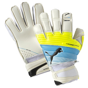 Puma evoPower Protect 2.3 Finger Protection Glove - White/Atomic Blue/Safety Yellow 041217-01
