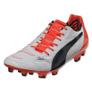 Puma EvoPower 1.2 Leather  FG - White/Total Eclipse/Lava Blast  103210-08