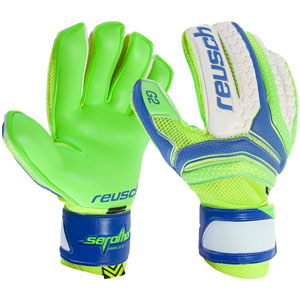 Reusch Serathor Prime G2 Ortho-Tec Glove - Electric Blue/Green Gecko 37709-30