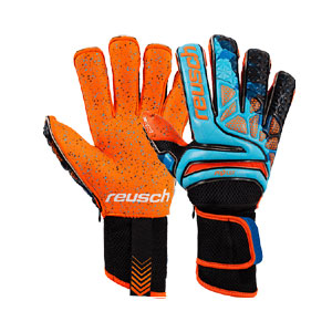 Reusch Prisma Pro G3 Fusion Evolution Ortho-Tec LTD - Blue/Black/Shocking Orange 3870058