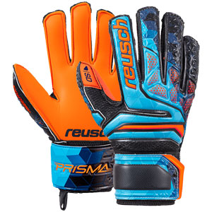 Reusch Junior Prisma SD LTD Finger Support Glove - Blue/Black/Shocking Orange 3872010