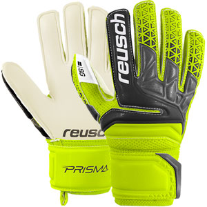 Reusch Junior Prisma SG Finger Support Glove - Safety Yellow/Black 3872810