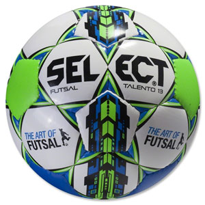 Select Futsal Talento U13 Soccer Ball - White/Blue 14700506020101