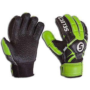 Select Youth Hard Ground Goalkeeper Glove - Black/Green 5703543