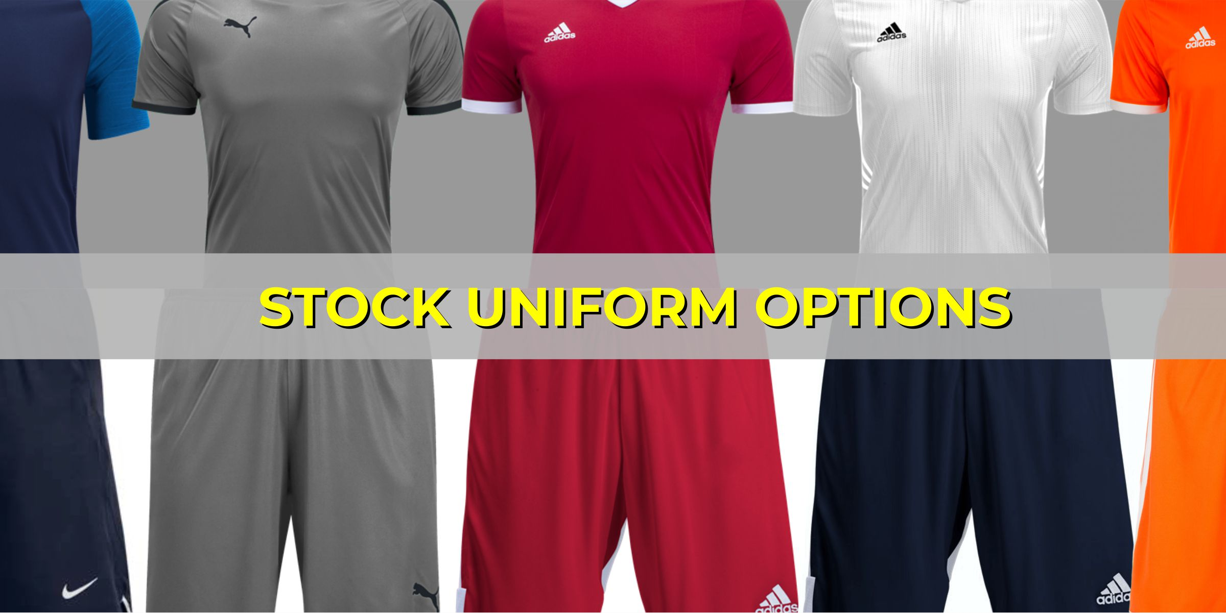 Stock Soccer Uniforms