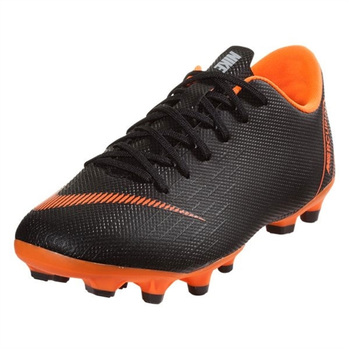 70b6b0498 Nike Junior Mercurial Vapor 12 Academy MG - Black Total Orange AH7347-081