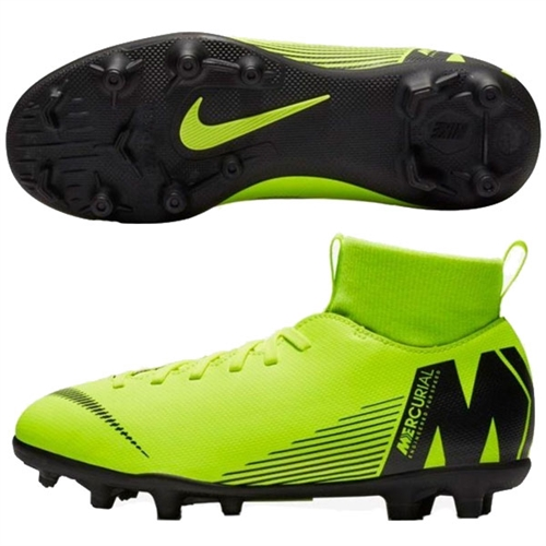 separation shoes a9ce5 41dce Nike Jr Mercurial Superfly VI Club MG - Volt/Black