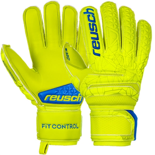 Reusch Fit Control M2 Finger Support Glove - Lime/Safety Yellow 3970130