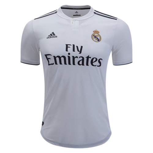 newest 8e9fd 89bd9 adidas Real Madrid Authentic Home Jersey 2018-2019