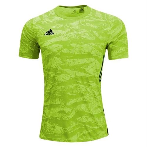 adidas adiPro 19 Short Sleeve Goalkeeper Jersey - Semi Solar Green DP3131