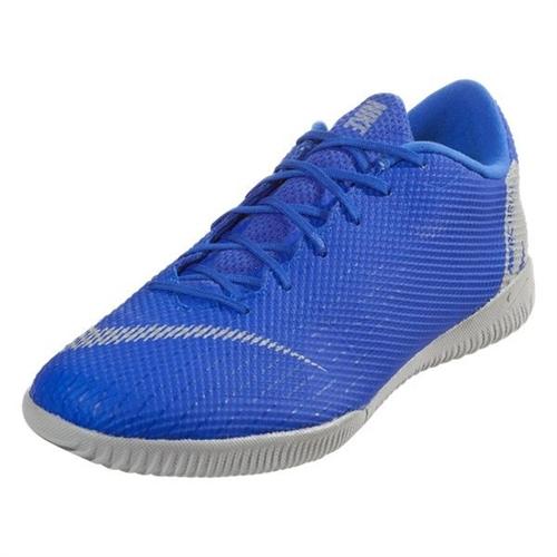 61a55639730 Nike Mercurial VaporX 12 Academy IC - Racer Blue Metallic Silver Indoor  AH7383-400