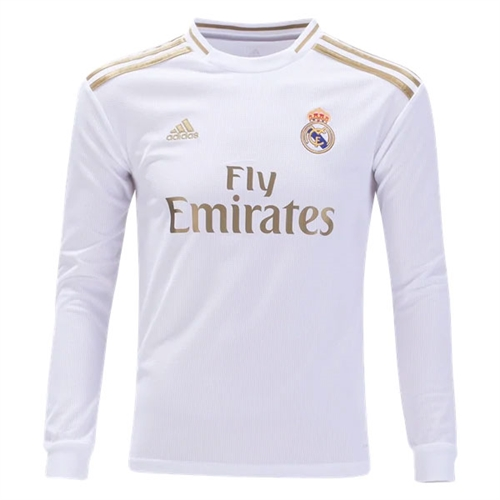 huge selection of 387ab 9b7b6 adidas Real Madrid Youth Home Long Sleeve Jersey 2019-2020