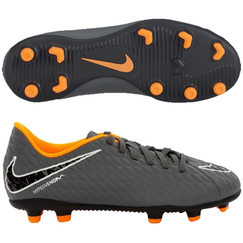 Nike Hypervenom Phantom 3 Club Jr FG - Dark Grey Total Orange AH7290-081 ea07a517c