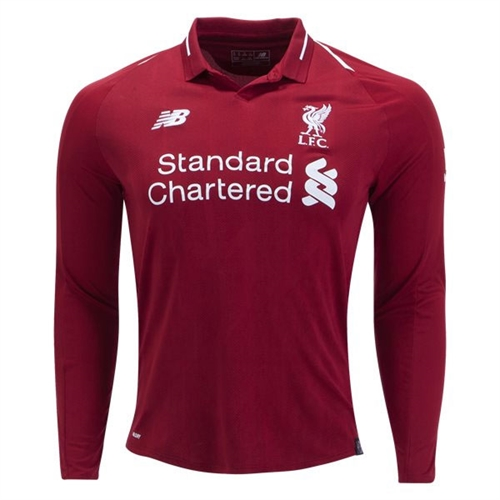 New Balance Liverpool Long Sleeve Home Jersey 2018-2019 MT830009