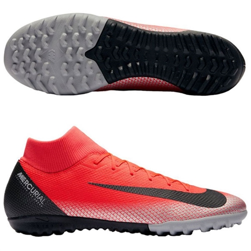 new style d448d 749f0 Nike Junior MercurialX Superfly 12 Academy CR7 TF - Bright Crimson/Black  Turf