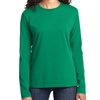 Port & Company Ladies Core Cotton Long Sleeve T-Shirt - Kelly Green LPC54LS-KG