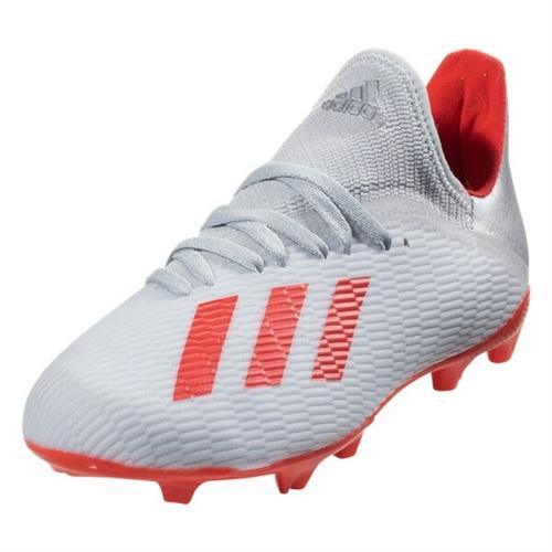 adidas Junior X 19.3 FG Silver MetallicHi Res Red