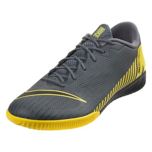 low priced bf9c1 155ae Nike Mercurial VaporX 12 Academy IC - Dark Grey/Yellow Indoor