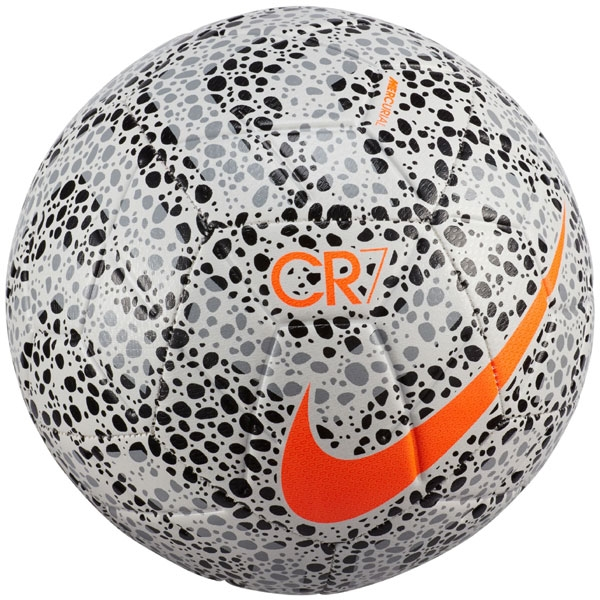 Nike CR7 Strike Soccer Ball - White/Black/Orange CQ7432-100