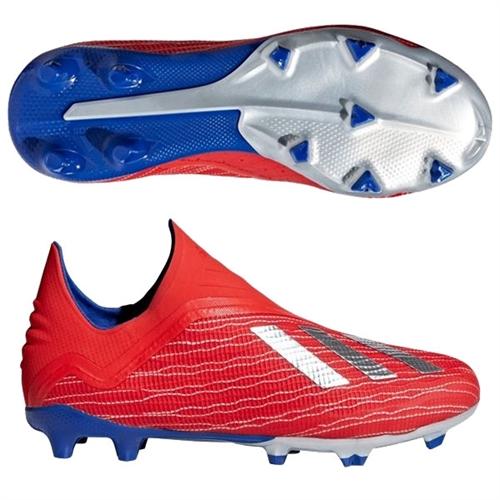 b87d19eaa adidas Junior X 18+ FG - Active Red/Silver Metallic/Bold Blue BB9357