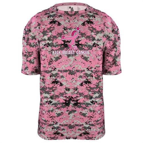 ec9debe8 Badger Camo Kick Breast Cancer Tee - Pink/Digital for men, women and ...