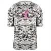 Badger Camo Kick Breast Cancer Tee - White/Digital 4180WH