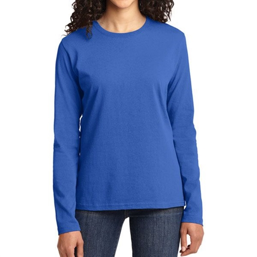 Gildan 5400L Cotton Women's Long Sleeve T-Shirt - Blue 5400LBlu