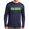 SSA United Long Sleeve Performance Shirt - Navy SSALPerTeeNav