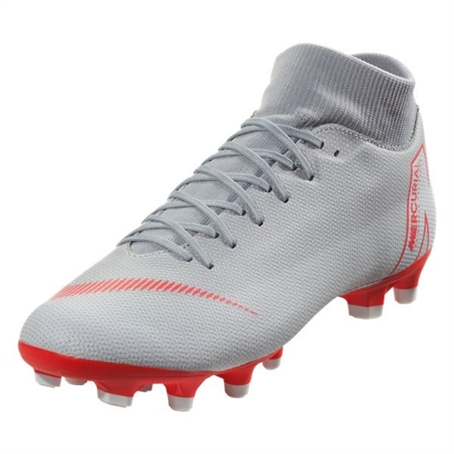 official photos 8d1f1 6a56c Nike Mercurial SuperFly VI Academy MG - Wolf Grey Light Crimson AH7362-060