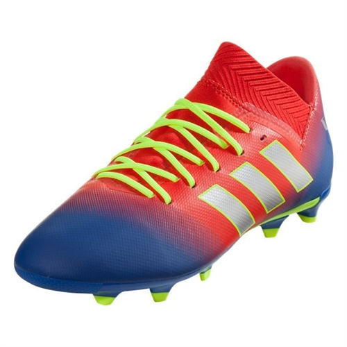f5f3c24d2 adidas Junior Nemeziz Messi 18.3 FG - Active Red Football Blue CM8627