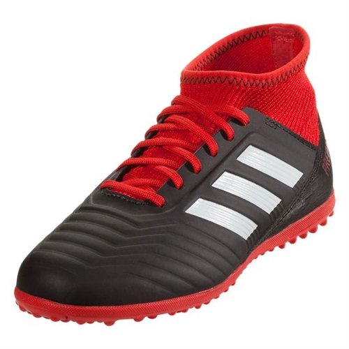 adidas Junior Predator Tango 18.3 TF - Core Black/Red Turf DB2330
