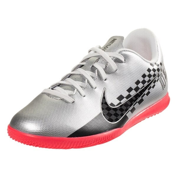 Nike Junior Mercurial Vapor 13 Club Neymar JR IC - Chrome/Red Indoor AT8172-006