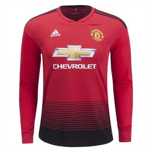 634276f45ab adidas Manchester United Long Sleeve Home Jersey 2018-2019 - CG0047 ...