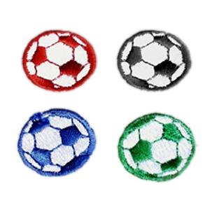 20 Plain Black /& White Soccer Ball Iron On Patches each 1.0-inch diameter