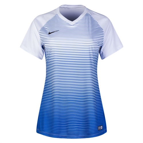 Nike Women's Precision IV Jersey - White/Game Royal/Black 886829-100