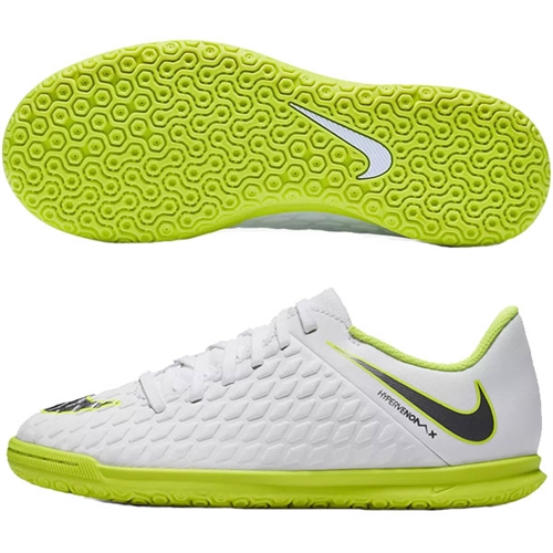 ecb0cda59059 Nike Junior Hypervenom PhantomX 3 Club IC - White Volt Indoor AJ3789-107