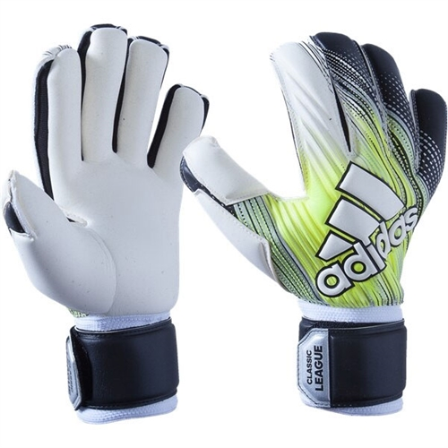 adidas Classic League Goalkeeping Gloves - Black/Solar Yellow/White DY2619