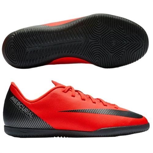 4925f598e Nike CR7 Junior Vapor X 12 Club IC - Bright Crimson Black Chrome Indoor
