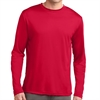 Sport Tek Youth Long Sleeve Performance Shirt - Red YST350LSRed