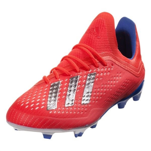 adidas Junior X 18.1 FG -Active Red/Silver Metallic/Bold Blue BB9353