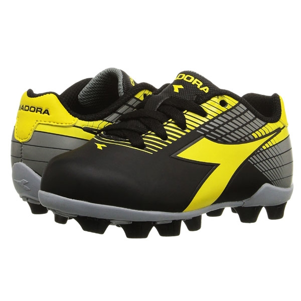 Diadora Kids Ladro MD JR - Black/Yellow/Grey 716616-9941