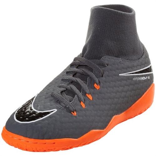 e462fbfe78ec Nike Junior Hypervenom PhantomX III Academy DF IC - Dark Grey Total Orange  Indoor AH7291