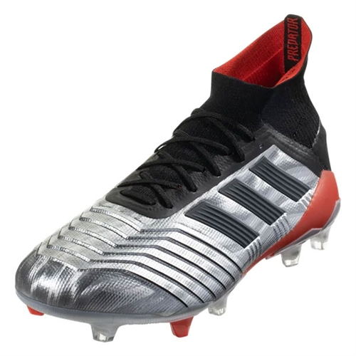 adidas Predator 19.1 FG - Silver Metallic/Core Black/Hi-Res Red F35607
