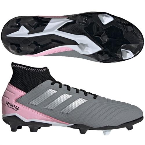 new arrivals 14ef6 3bfd2 adidas Predators 19.3 Women s FG - Grey Silver Metallic Pink F97528