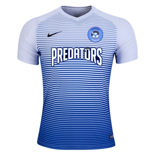 PBG Predators Nike Youth Precision IV Jersey - White/Game Royal/Black PRED-886830-100