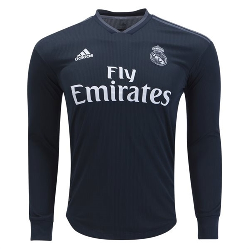 4d75ac0b627 adidas Real Madrid Authentic Away Long Sleeve Jersey 2018-2019 DQ0868