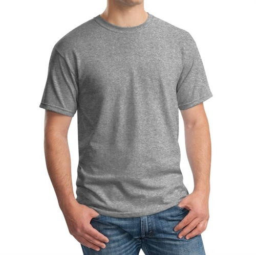 Gildan 5000 Cotton T-Shirt - Heather Grey G5000Grey