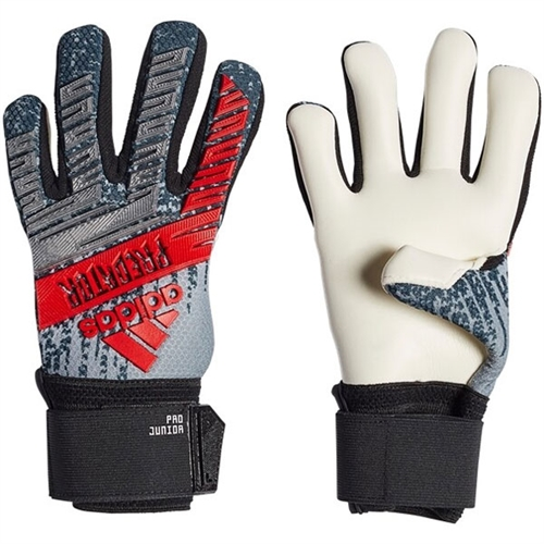 adidas Junior Predator Pro Training Goalkeeping Gloves - Silver Metallic/Black DY2580