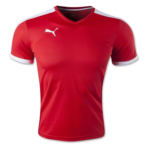 9b8ebc6f702 Puma Pitch Jersey - Red - 702070Red - AuthenticSoccer.com
