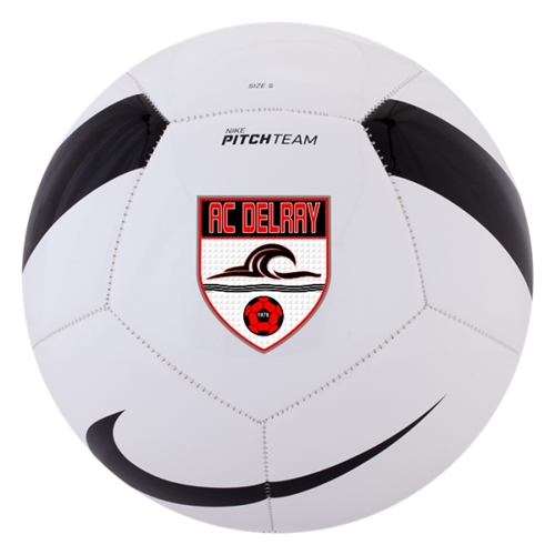 41aea6560f1 Nike AC Delray Pitch Team Soccer Ball - White Black SC3166-100-AC